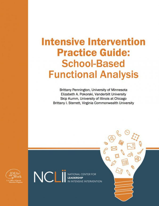 Practice Guide for School-based Functional Analysis